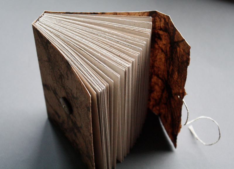Birch, flax paper longstitch journal