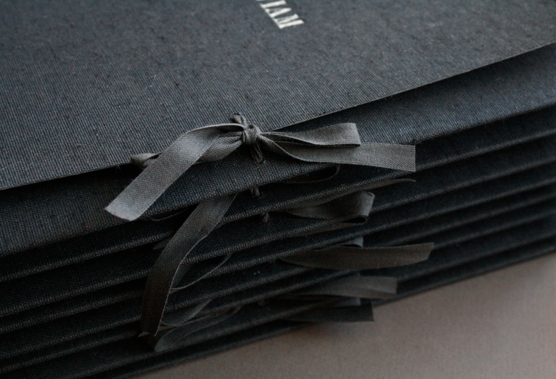 Cloth-covered portfolio folders
